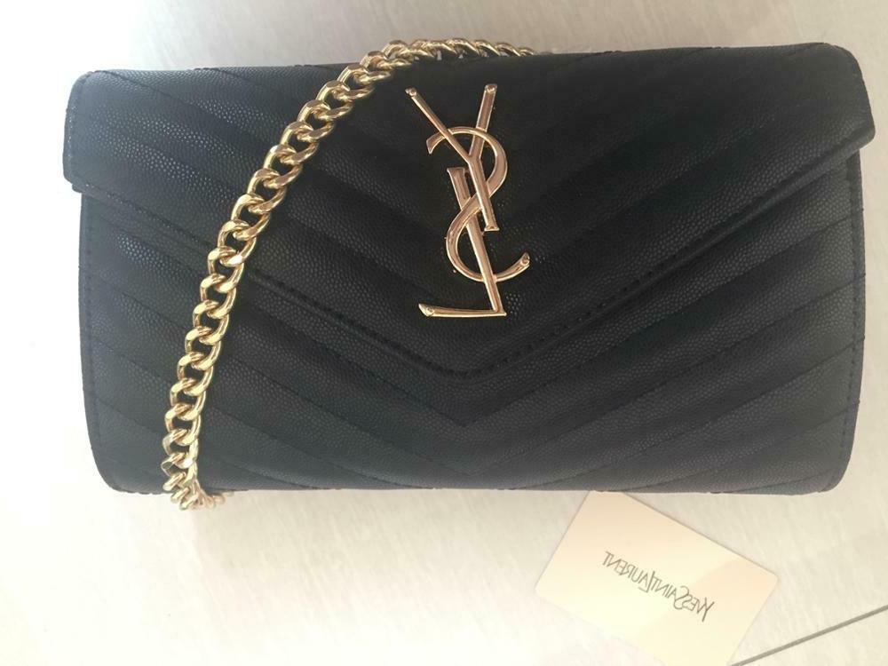 New Saint Laurent Chain Wallet Leather