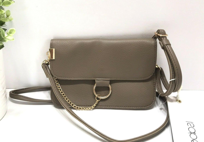 new womens crossbody wristlet bag purse gray