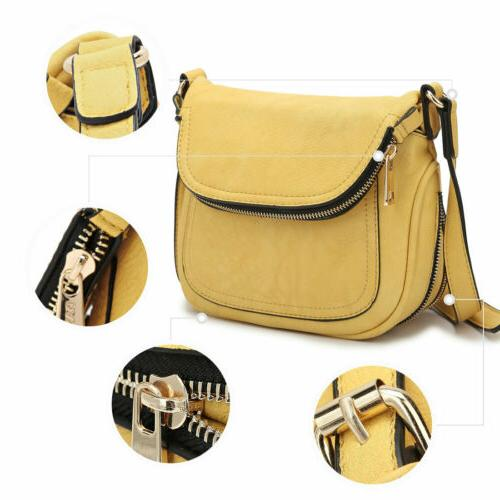 Dasein Leather Crossbody Bags Messenger Front