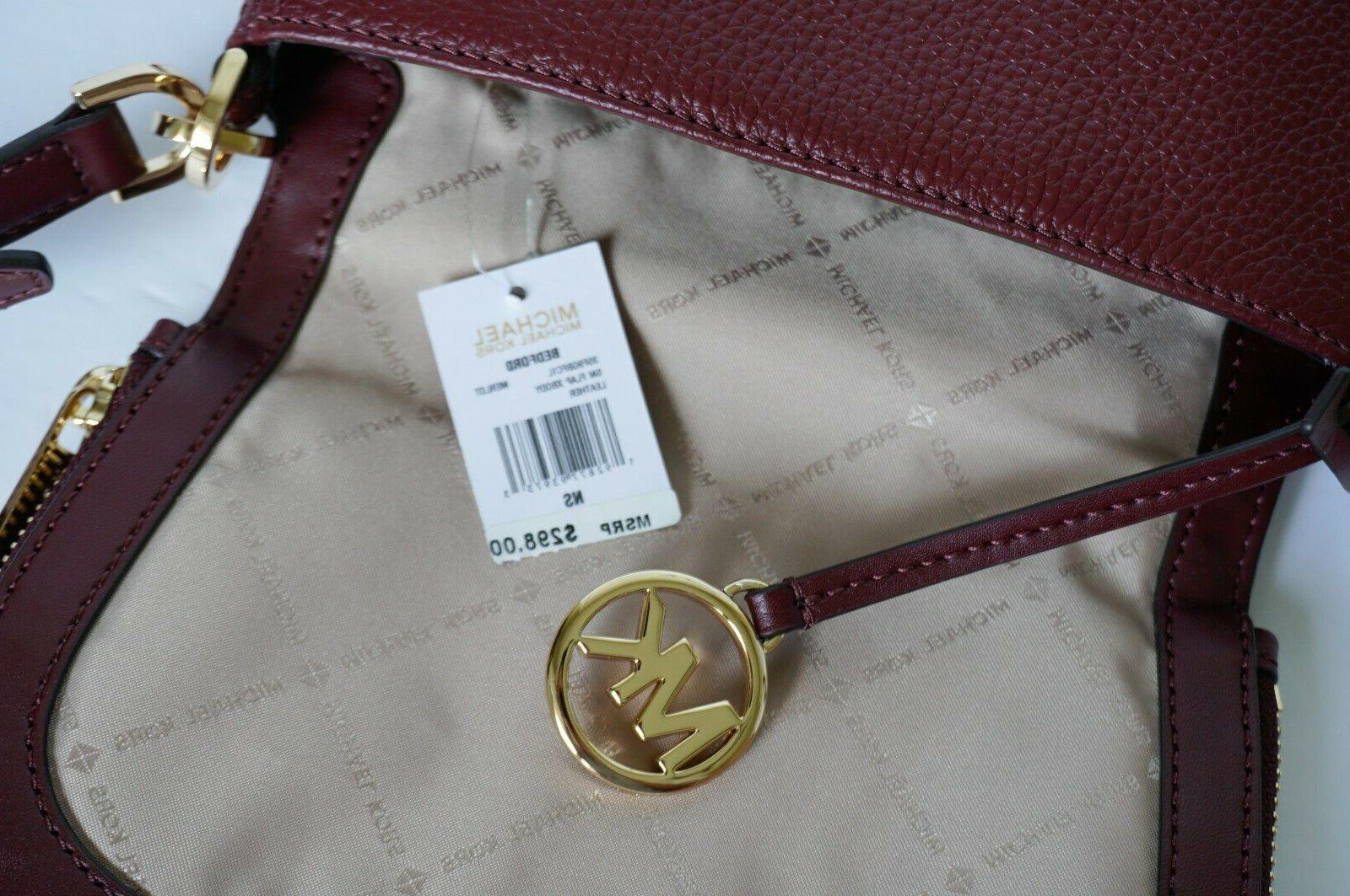 NWT Small Flap Crossbody Pebbled Leather Bag