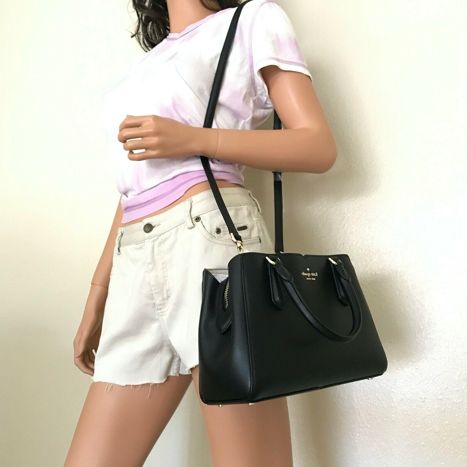 NWT Kate Tippy Small Triple Compartment Crossbody Bag Black