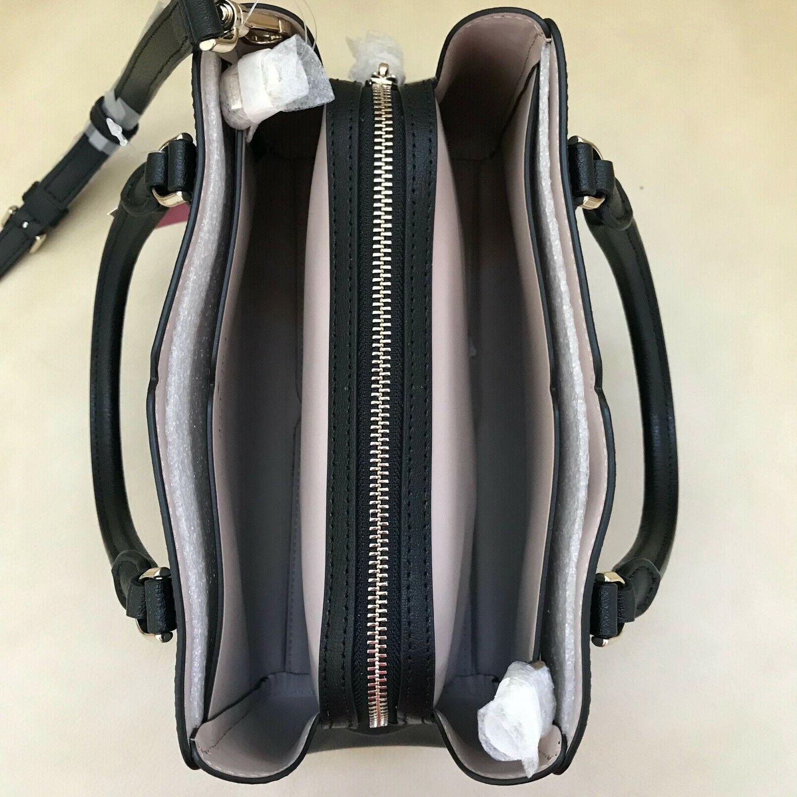 NWT Spade Small Triple Compartment Satchel Crossbody Bag Black