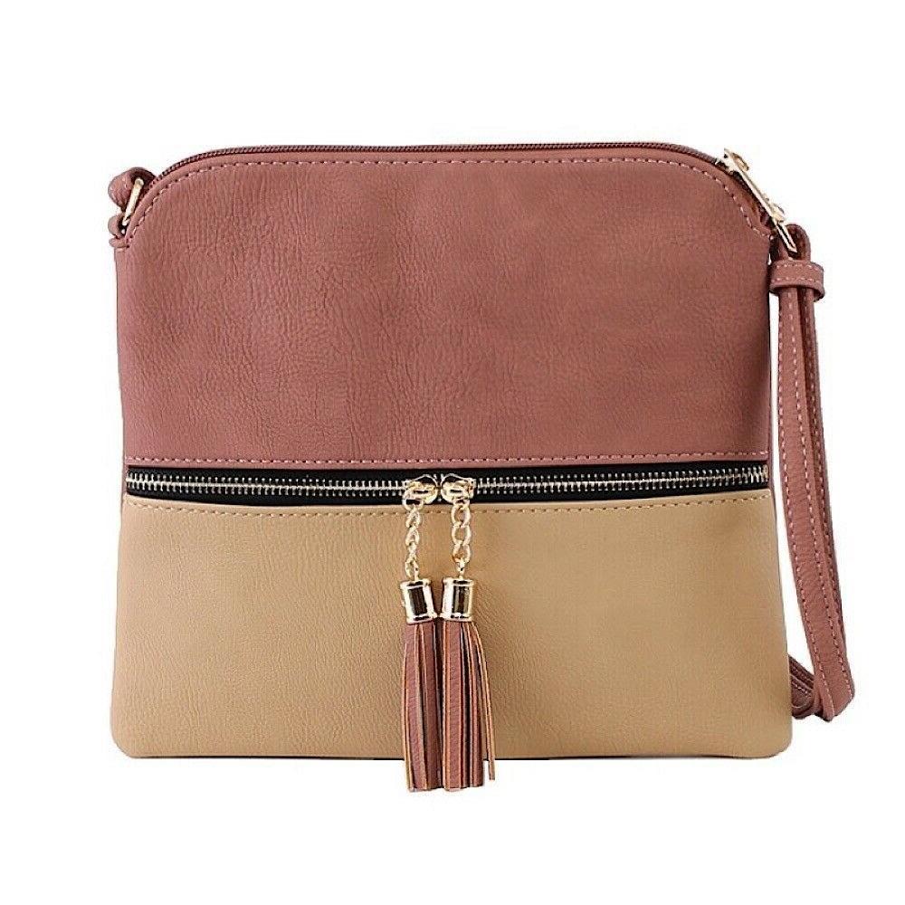 purse womens color block crossbody shoulder bag