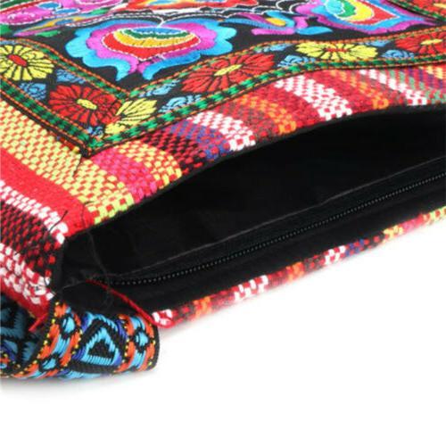 Retro Embroidery Messenger Tassel Shoulder Bag Hippie
