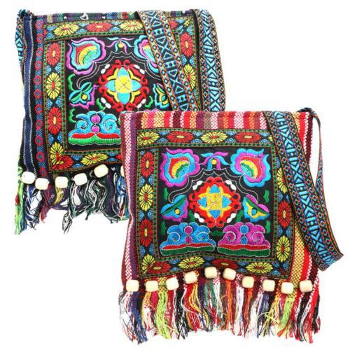 retro embroidery boho tote messenger ethnic tassel