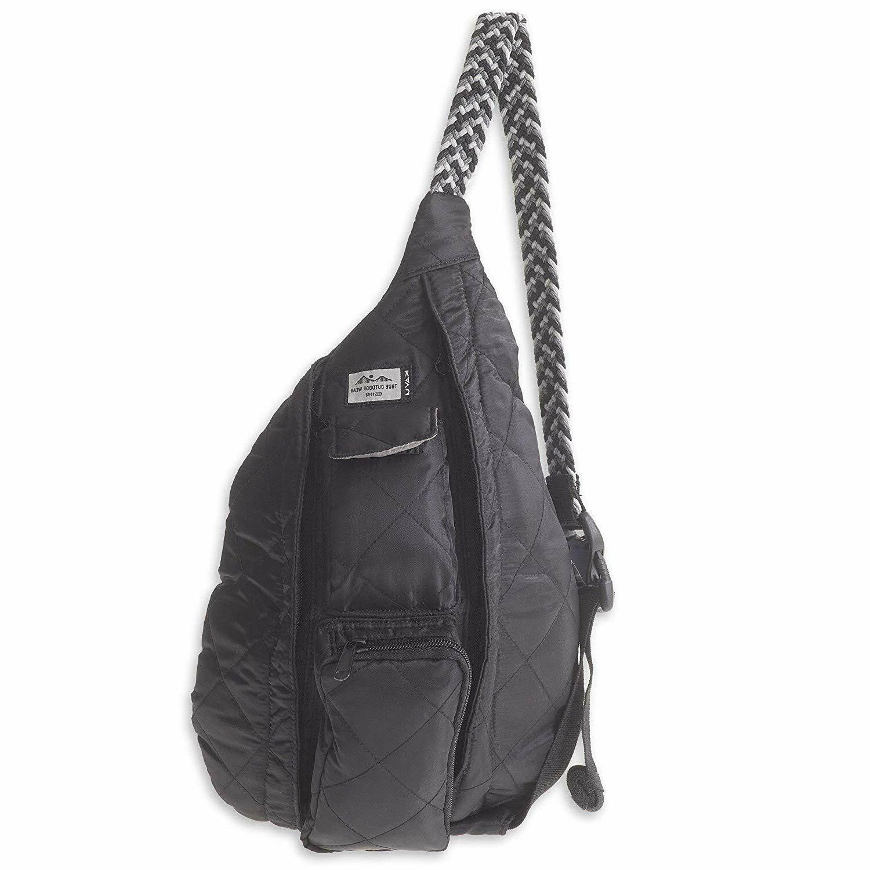rope puff bag mini sling crossbody backpack