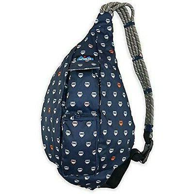 rope sling bag polyester crossbody shoulder backpack