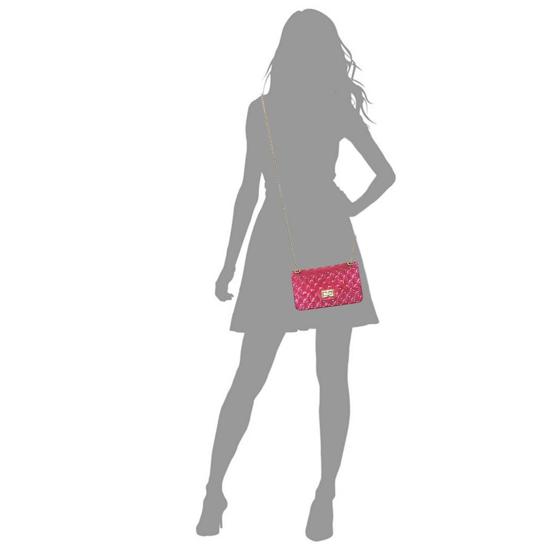 Single Semi Jelly 2-Way Shoulder Bag Crossbody
