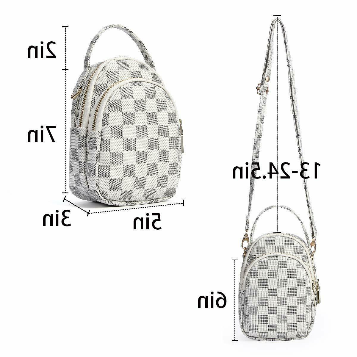 Small Checkered Purse