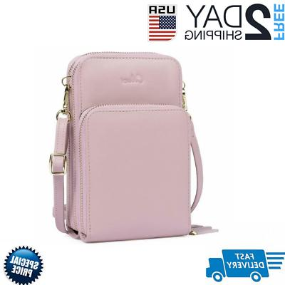 small crossbody bag for women leather cellphone