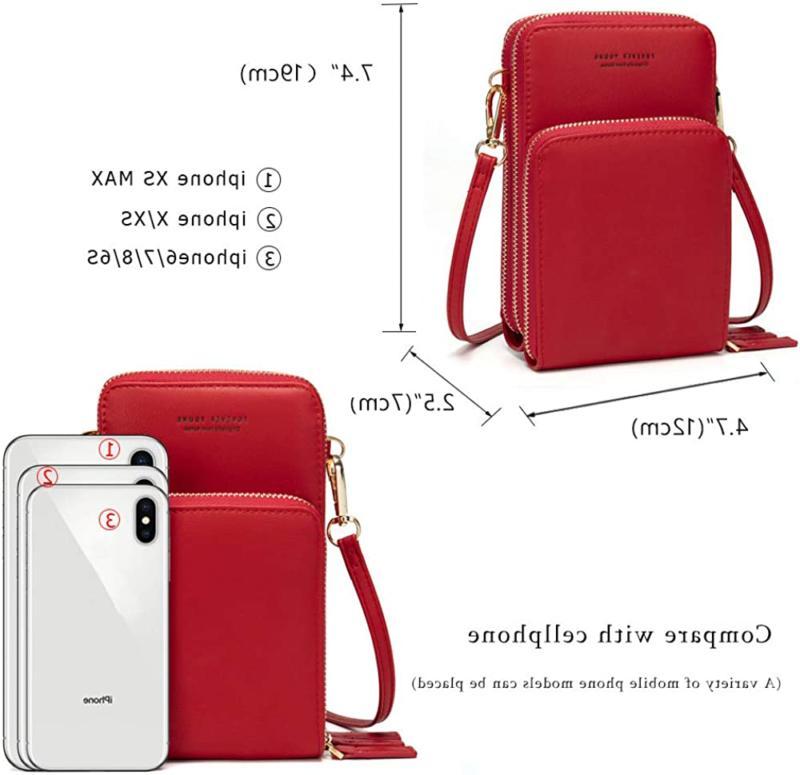 Small Crossbody Phone Purse For Women, Messenger Bag Wallet W
