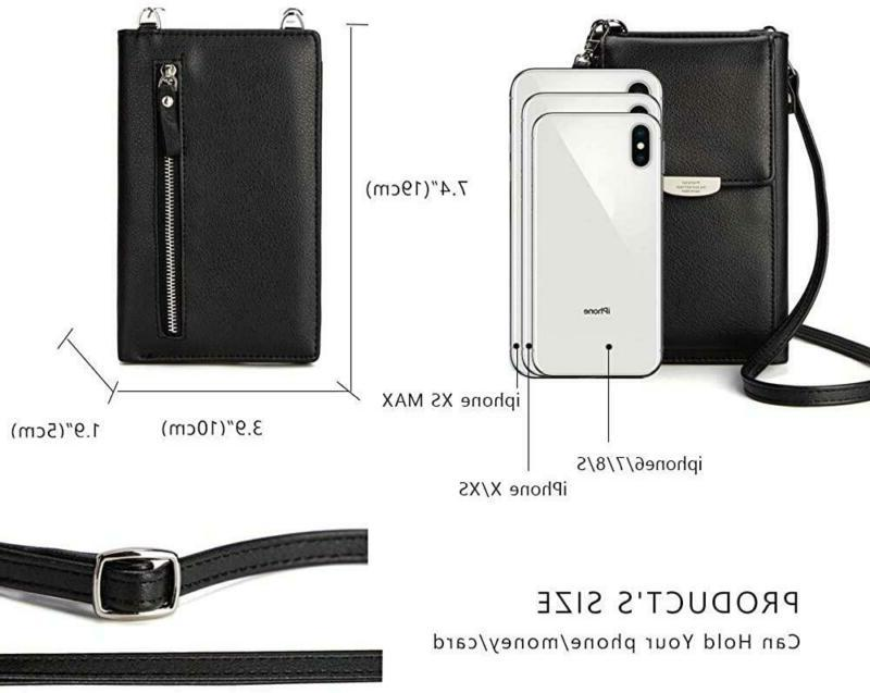 Small Leather Shoulder Crossbody Wallet