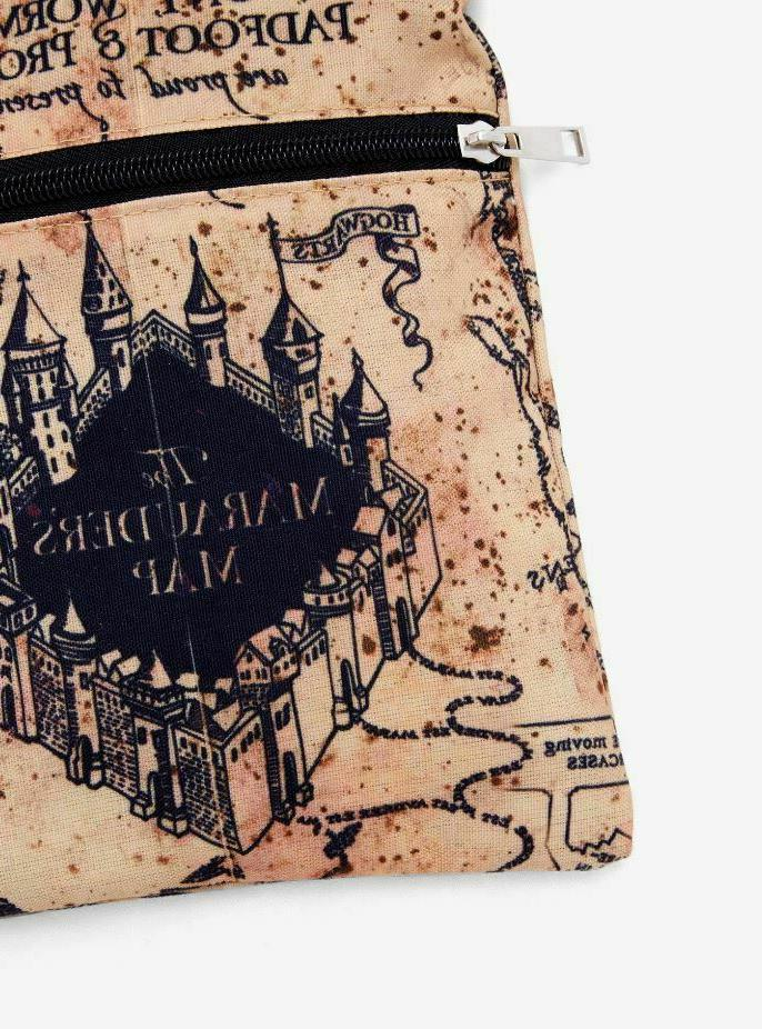 Harry Solemnly Map LICENSED Crossbody Bag Purse Bag