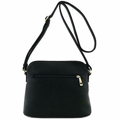 Tassel Pocket Dome Crossbody Bag