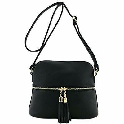 Tassel Pocket Crossbody Bag