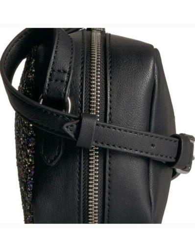 THE FIX Glitter Small Crossbody Bag - Black