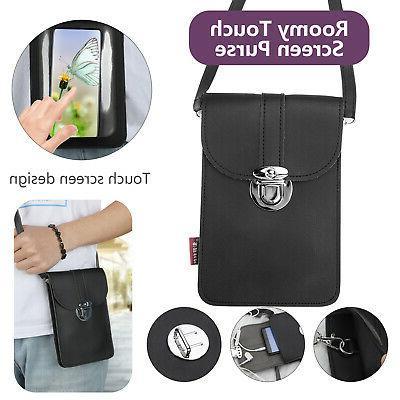 touch screen phone purse mini wallet crossbody