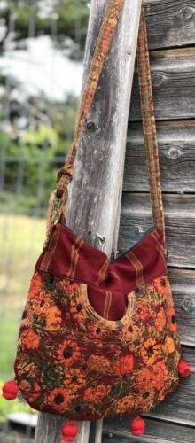 Unique Guatemalan Embroidered Huipil Crossbody Bag.  Ethnic