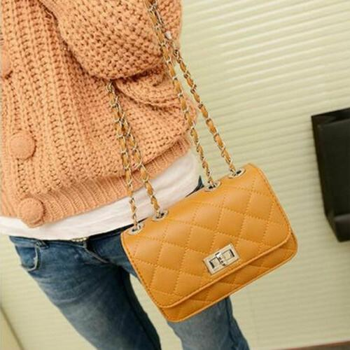 US Women's Small Handbag Quilted Bag with Chain Strap