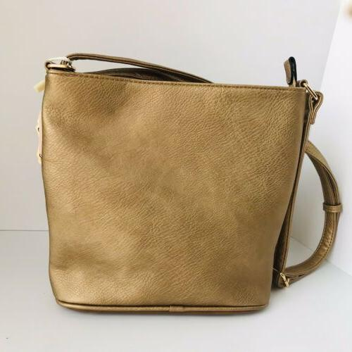 Vegan Crossbody Gold With Adjustable Strap