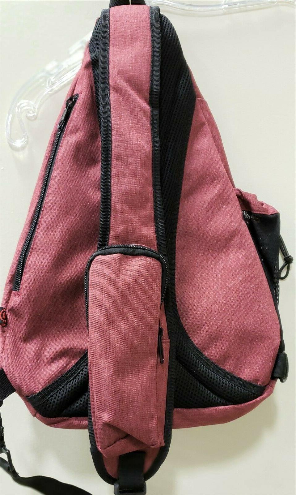 Versatile Canvas Sling Travel Backpack Over Shoulder/crossbody