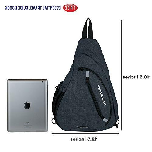 Versatile Canvas Travel Backpack, Black Wear Shoulder Crossbody Men Women, by NeatPack