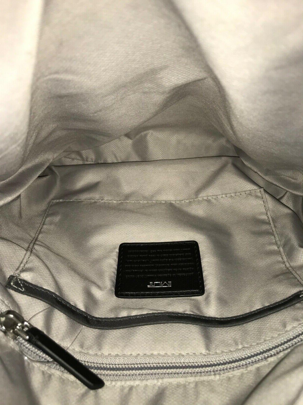 "Tumi Canton Bag Nylon Grey/Silver x 10.5""H"