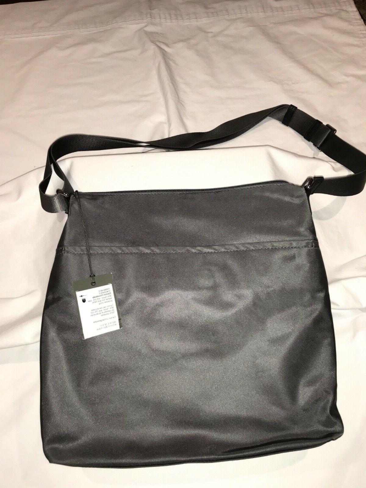"""Tumi Voyageur Crossbody Bag Grey/Silver 10.5""""W x 10.5""""H 2.""""D"""