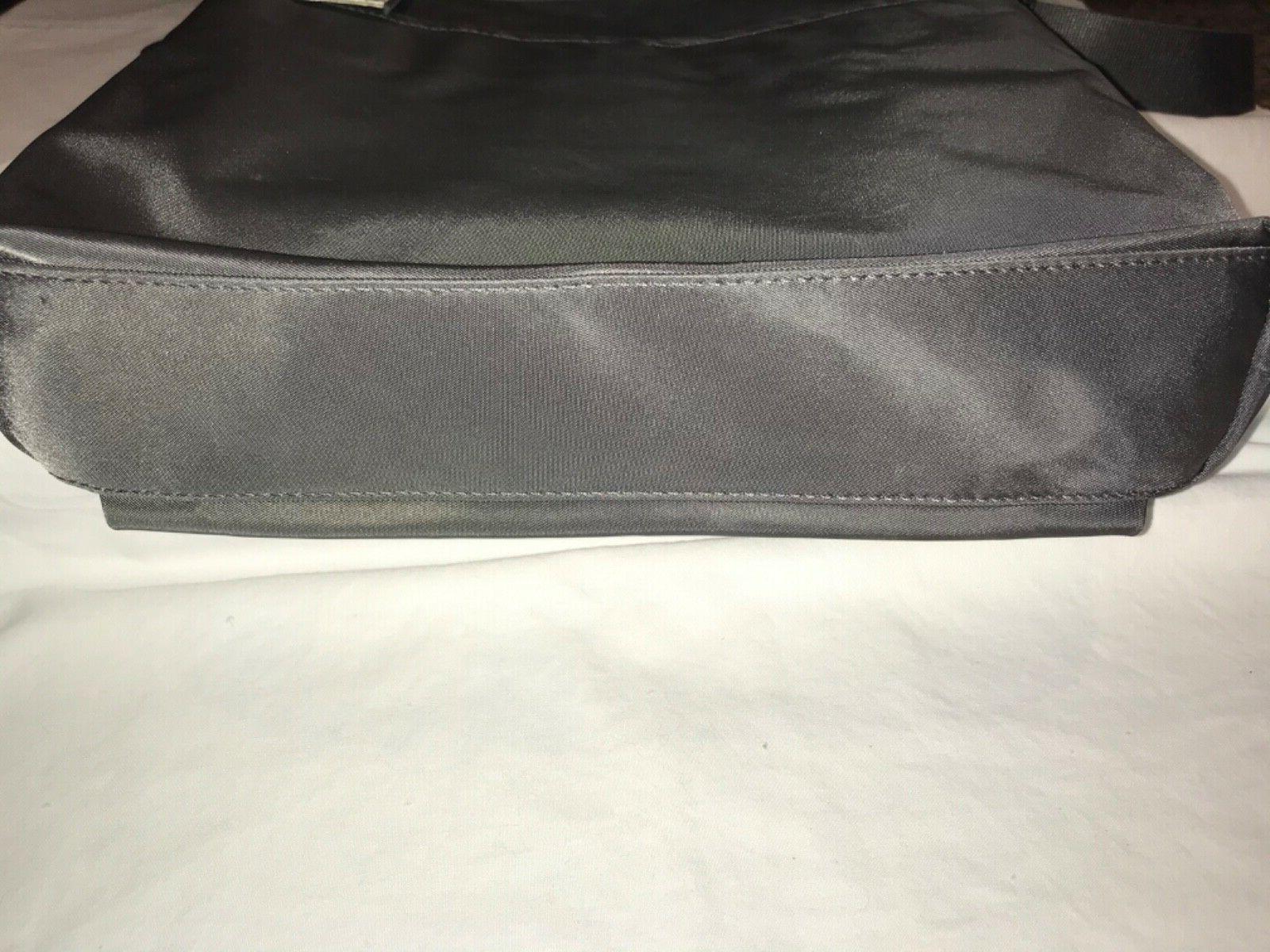"""Tumi Canton Crossbody Bag Grey/Silver 10.5""""W x 10.5""""H 2.""""D"""