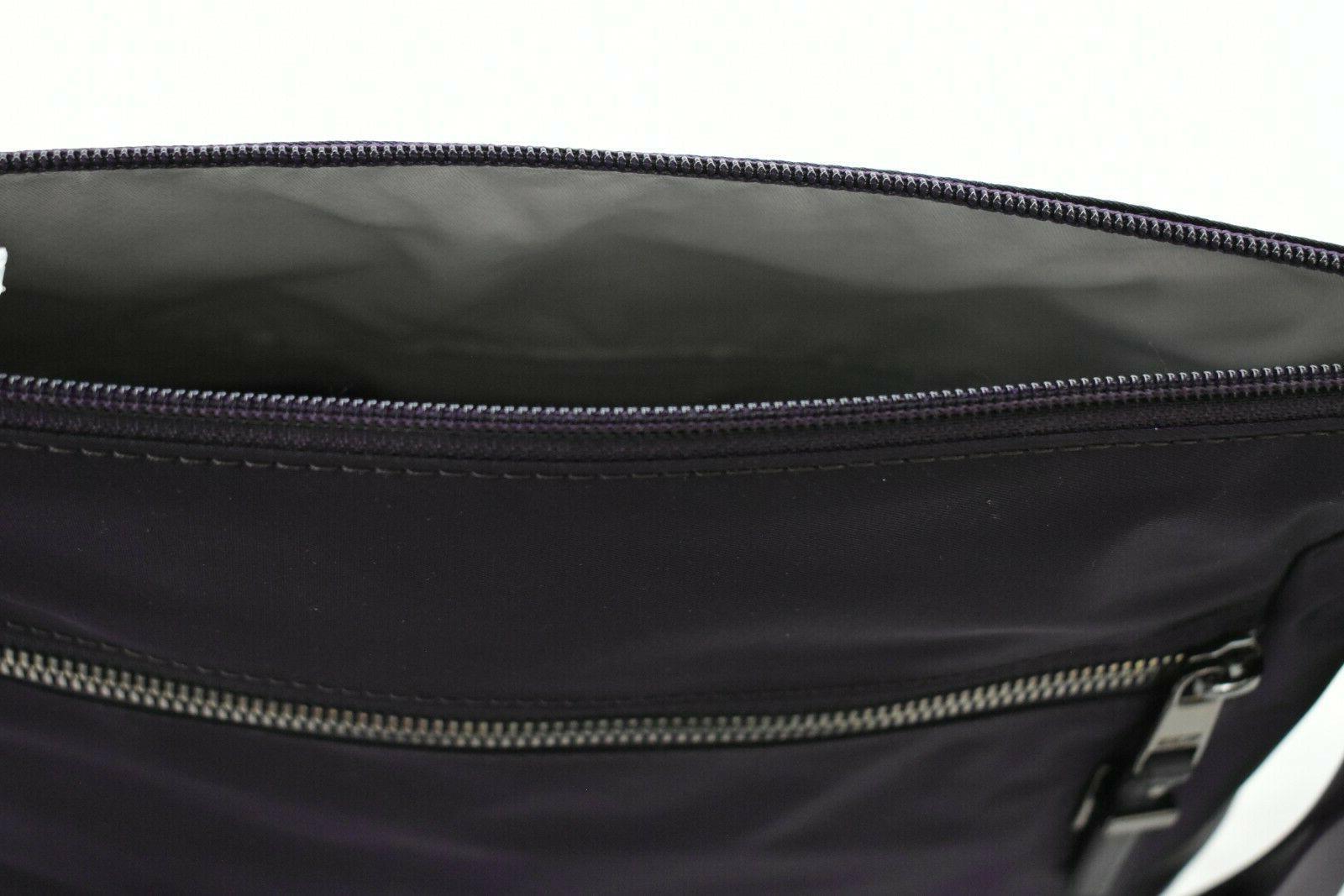 Tumi Voyageur Crossbody Bag Purple Purse Top Zip $245