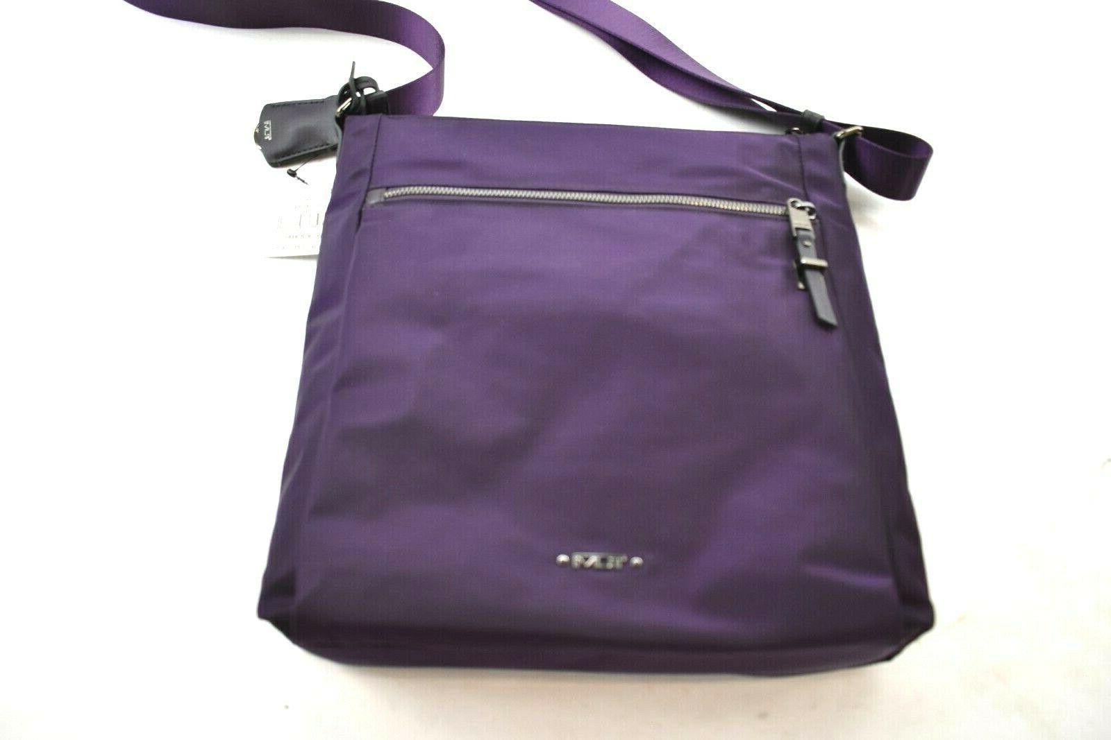 voyageur canton nylon crossbody bag mulberry purple