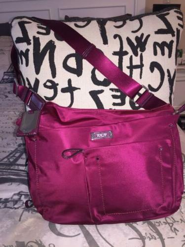 Tumi Crossbody Burgundy Crossbody Bag