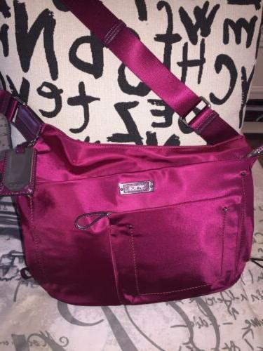 Tumi Burgundy Hrdwr Crossbody Bag