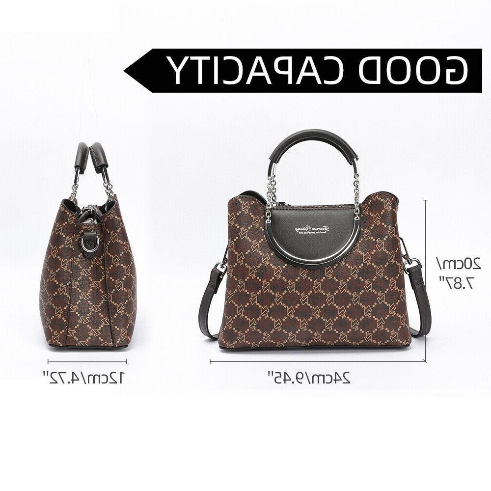 Woman Shoulder Handbags PU Top Handle Satchel Crossbody
