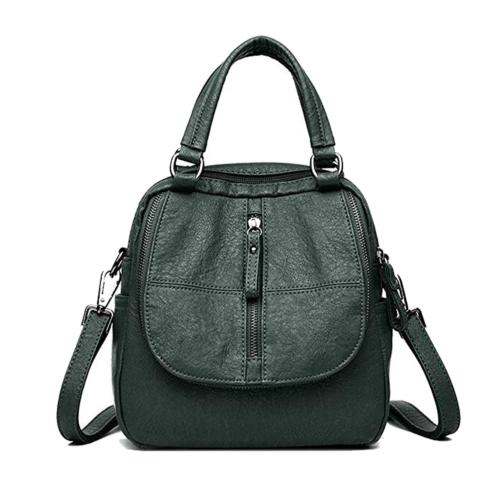 ELIMPAUL Women Backpack Washed Leather Ladies Rucksack Cross