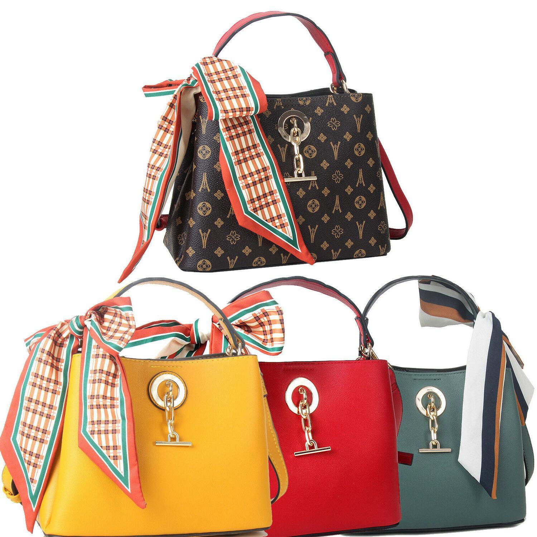 women bucket satchel chain pendant handbags scarves