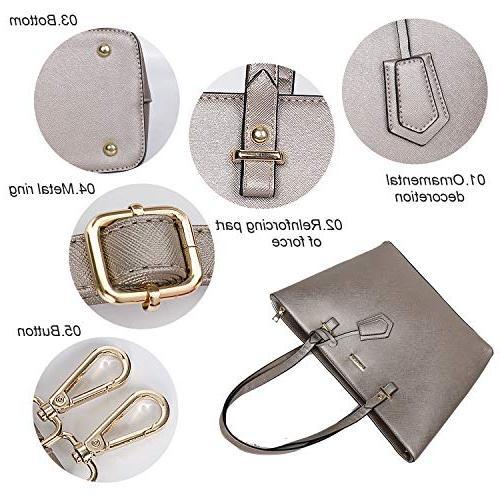 ELIMPAUL Fashion Tote Shoulder Top Handle Set