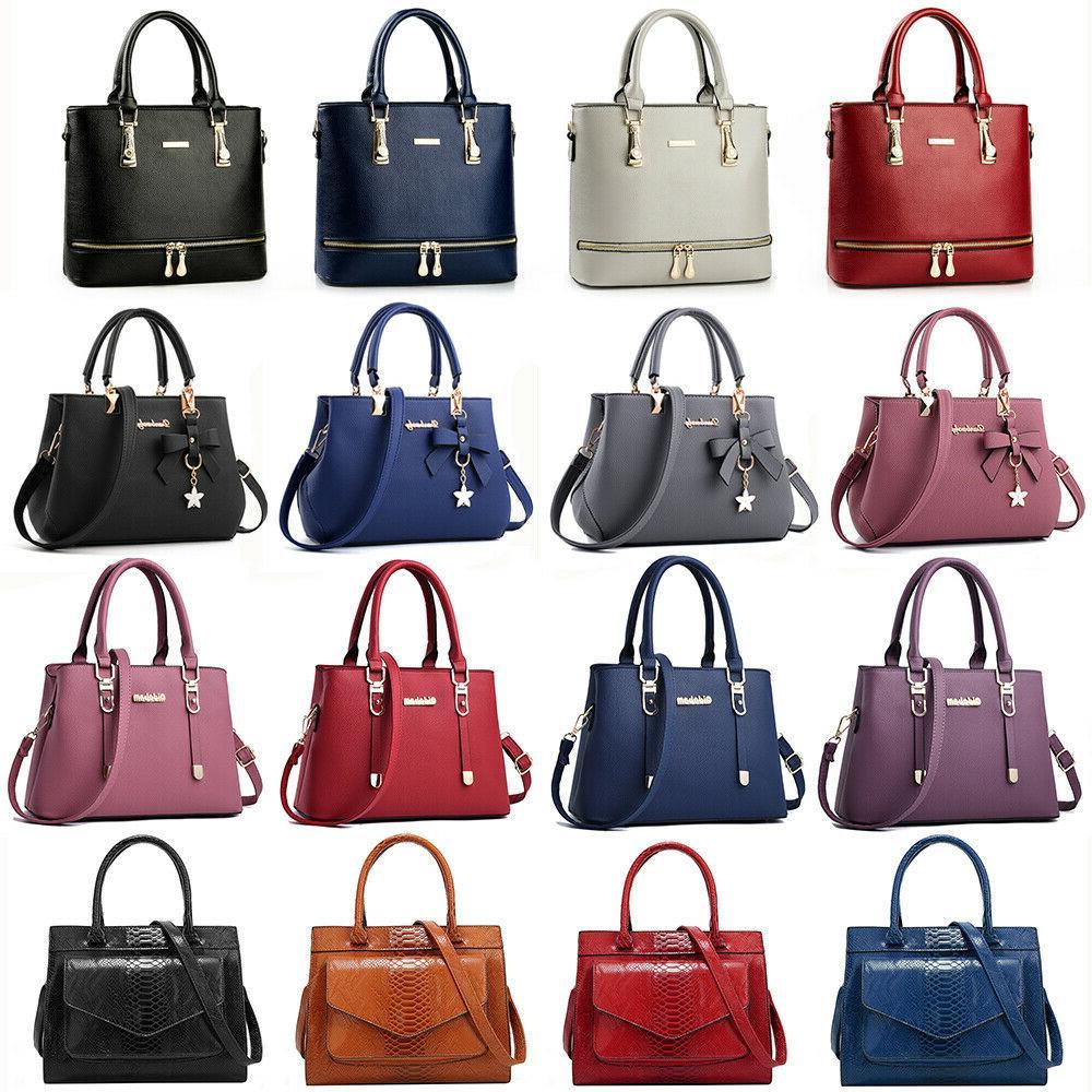 women lady leather handbag shoulder bag crossbody
