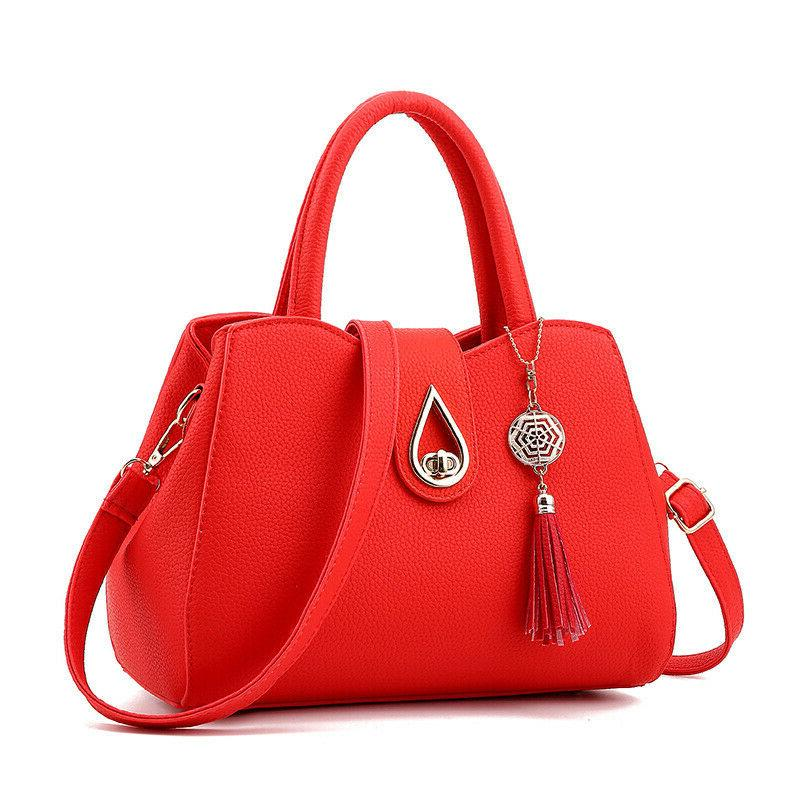 Women PU Leather Handbag Shoulder Crossbody Bag Purse