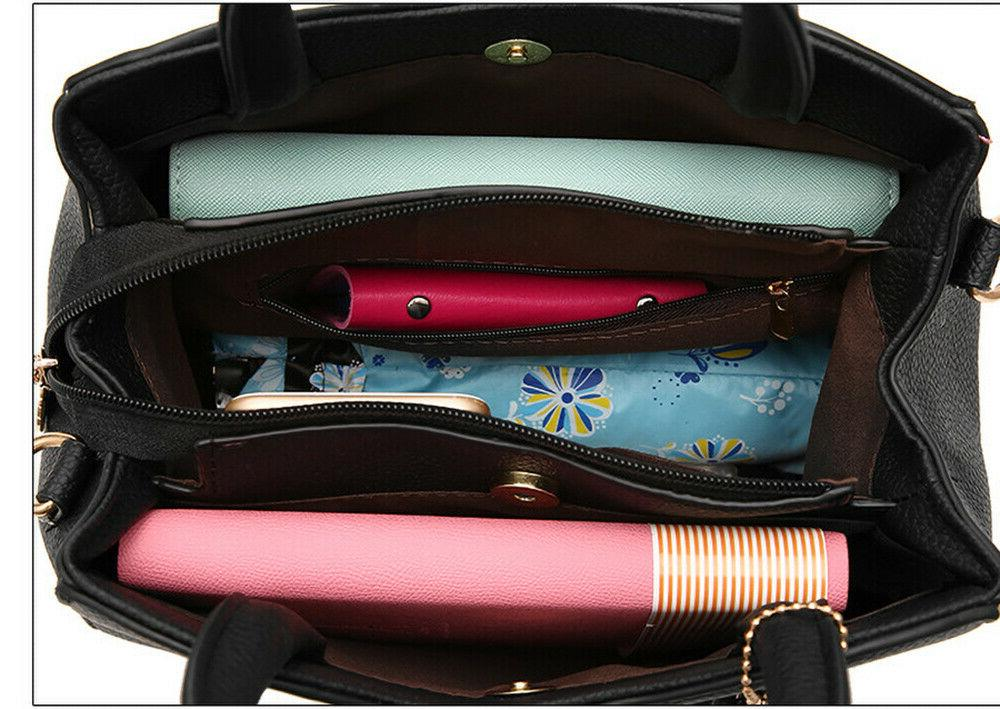 Women PU Handbag Shoulder Satchel Tote Crossbody