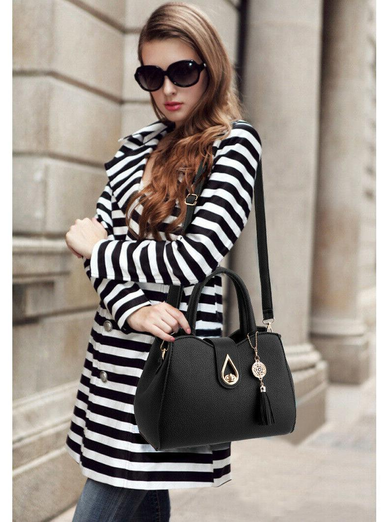 Women PU Leather Handbag Shoulder Crossbody