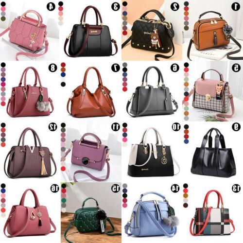 women lady leather handbag shoulder messenger satchel