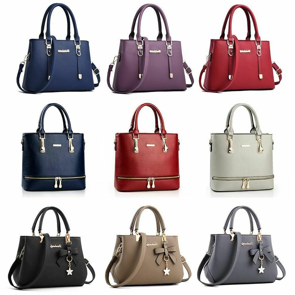 women leather handbag messenger shoulder bag lady