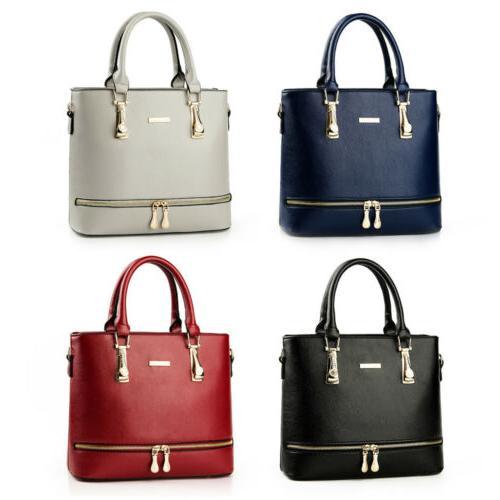 Women's Faux Leather Handbags Tote Purses Ladies Crossbody S