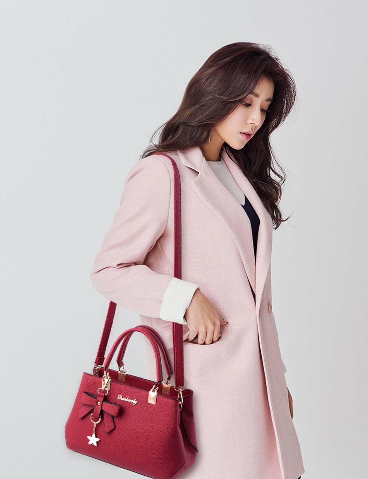 Women Leather Handbags Messenger Satchel Tote Crossbody Bags