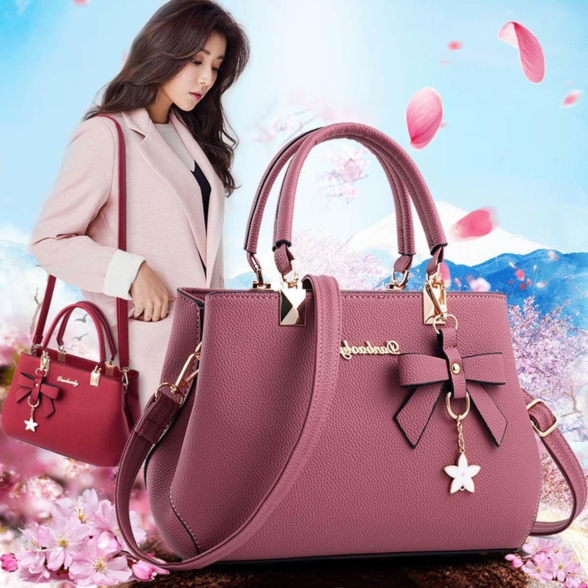 women leather handbags shoulder messenger satchel tote