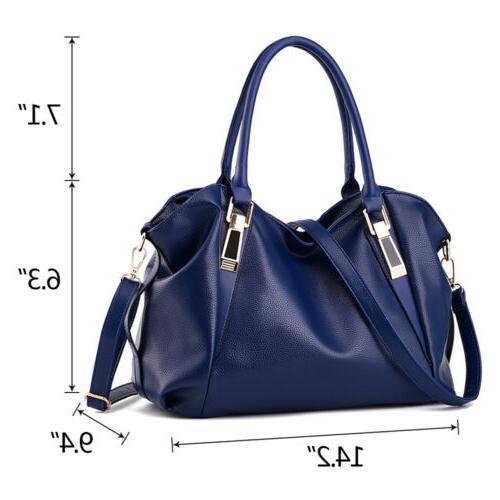 Women PU Bag Ladies Tote Satchel Crossbody Purse