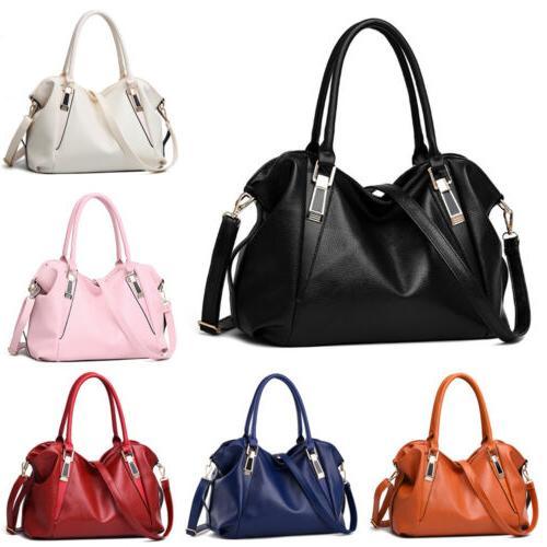 women pu shoulder handbag bag ladies tote