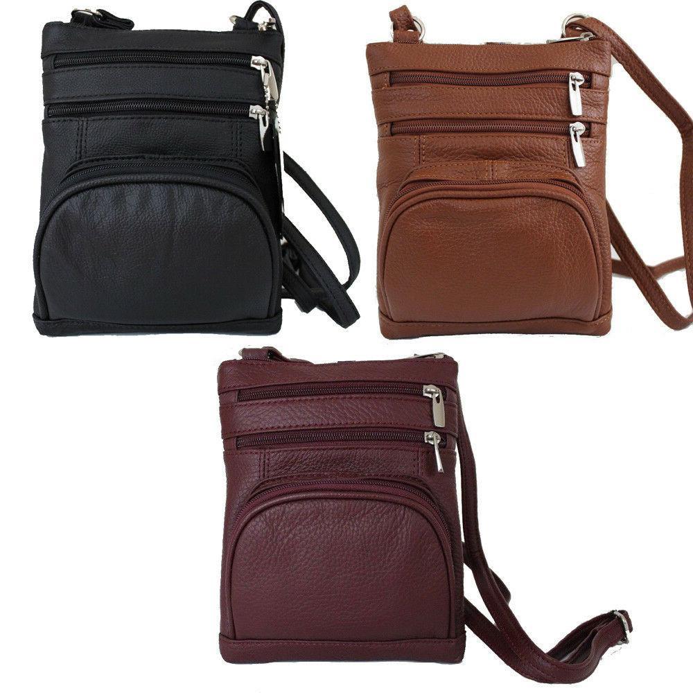 women purse genuine leather multi pocket small