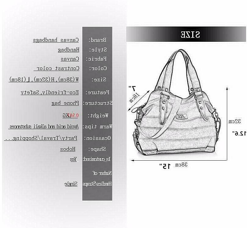 Women's Canvas Handbag Hobo US